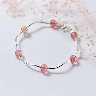 草莓晶手鏈 – 925純銀系列【貨號:00256】