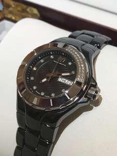 Swiss made 全新 Technomarine Diamond Watch 真鑽石 陶瓷 女裝 手錶 瑞士製🇨🇭 鑽石 情人節 聖誕禮物 生日禮物 原價$25800