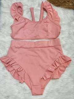 Ruffled two piece swimsuit