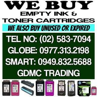 WE BUY EMPTY INK. AND. TONER CARTRIDGES