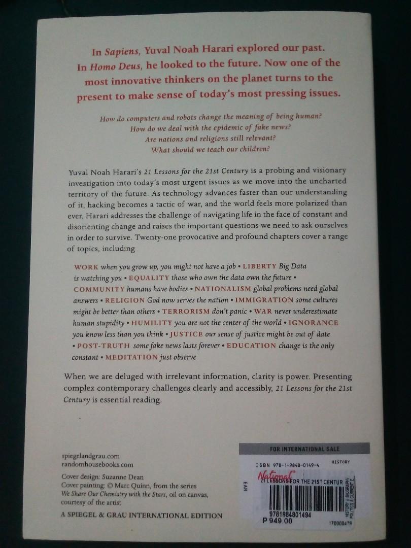 21 Lessons for the 21st Century | Yuval Noah Harrari | Trade Paperback