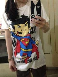 Superman White Tee