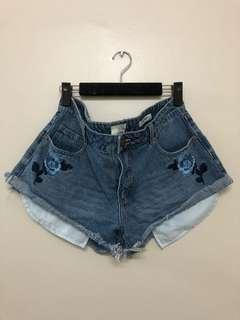 COTTON ON Embroidery Detail Denim Shorts
