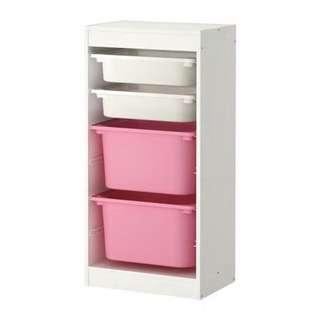 Set of 3 Ikea TROFAST Storage combination with boxes