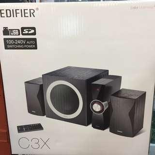 ⭐️【全新只有一件】⭐️ 🔊Edifier C3X 2.1聲道三件式喇叭🔊 可面交