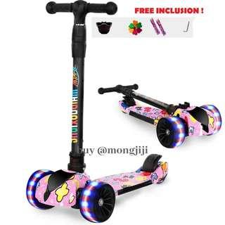 Children scooter wheels with lights (4 large wheels) front and back wheel with light
