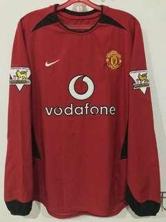 *Rare* Manchester United 2002/04 Home Kit Longsleeve