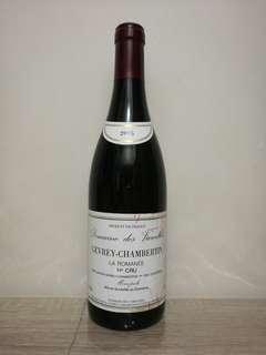 法國勃艮地DOMAINE DES VAROILLES GEVREY-CHAMBERTIN 2005 紅酒