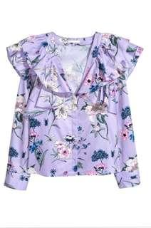 H&M frilled floral top