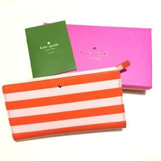 💰💰(有單) Kate Spade Orange Long Wallet 多格相位銀包