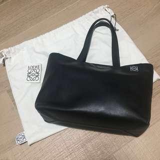Spain Loewe Black Leather Tote Bag 西班牙名牌 黑色 真皮 手袋