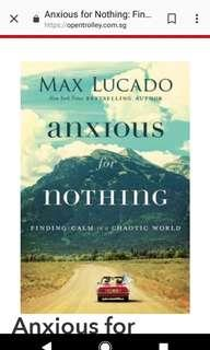 New Hardback book : Max Lucado, Anxious for nothing
