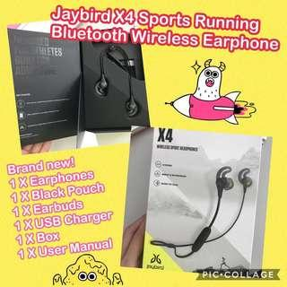 🚚 Jaybird X4 Sport Running Wireless Bluetooth Earphones