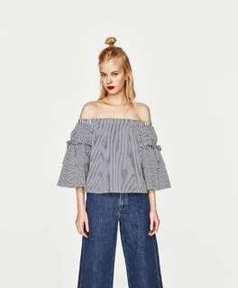 Zara off shoulder detachable sleeves