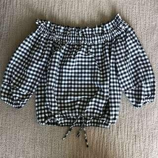 FOREVER NEW - Off the shoulder gingham top