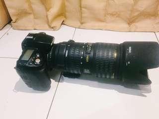 NIKON D90 LENSA 70-200 SIGMA buat NIKON f 2.8