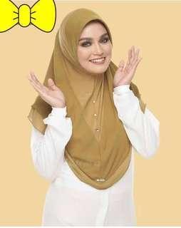 Hijab Instan Malaysia warna hijau army
