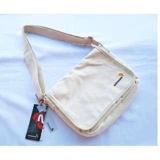 Monkking Canvas Biege Unisex Messenger Sling Bag
