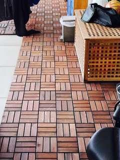 🚚 Wooden decking / tile (Ikea)