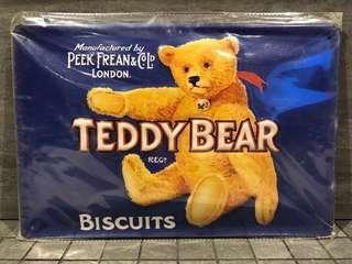Teddy Bear Biscuit Vintage Metal Poster / Metal Plate / Metal Signage
