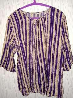 Blouse Big Size Stripe