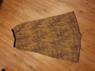🚚 豹紋質感長裙