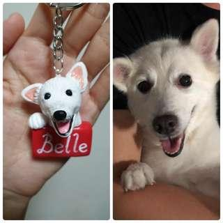 Customise dog tag/keychain made of polymer clay