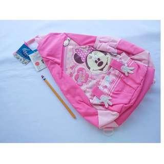DISNEY Minnie Mouse Pink Single Strap Kiddie Backpack