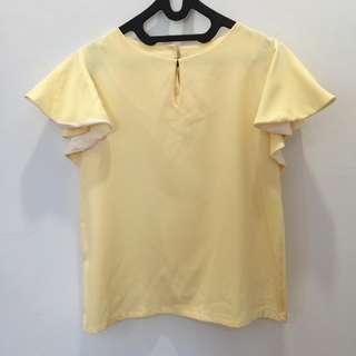 Yellow Korean Blouse