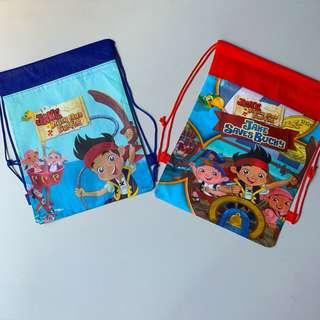Jake The Neverland Pirates party supplies - draw string goodie bags / party bags / party gift / backpack