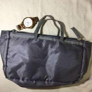 Grey small utility bag (watch for scale only)
