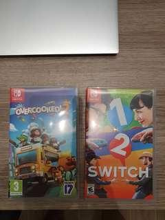 1-2 switch, overcooked (SOLD)