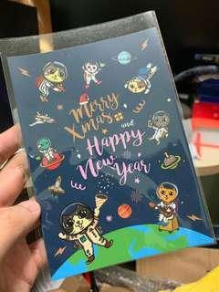 貓貓聖誕新年賀卡 postcard - 來自台灣