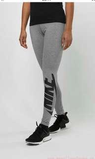 NIKE Leggings Irreverent Carbon Heather/Black, Size M