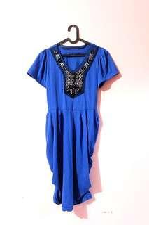 Blue party dress / dress biru dongker