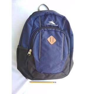 High Sierra by Samsonite Leather Patch Navy Unisex Backpack