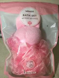 Miniso Bath Set (Bath sponge only)