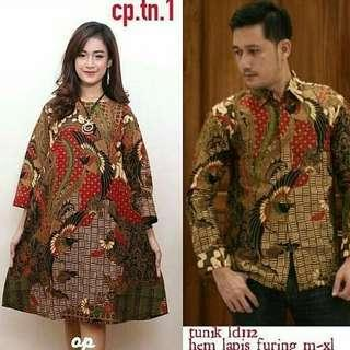 Dress + baju batik (couple)