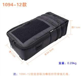 🚚 ***In-Stock = External Battery Bag 34.5x17x11cm Velcro Tactical 2 Wires Outlet Waterproof