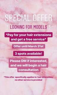 Free Hair Extension Service