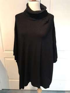 *NEW* MONKI - Turtleneck cape sweater - black - xs (oversized style)