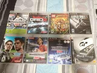 PS3 Games (8 cds as seen in photo)