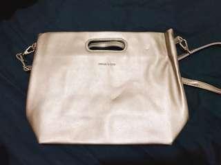 仿曬 古銅金 金屬色包 手提包 斜背包 兩用包