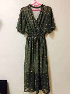 Pale green maxi Long dress