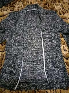 🚚 全新漢神百貨購入ZARA💋腰身設計雅痞風型男針織外套💋