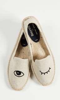 🚚 Soludos 眨眼睫毛便鞋