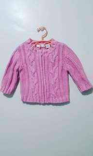 Knitted Pink Jacket for Newborn