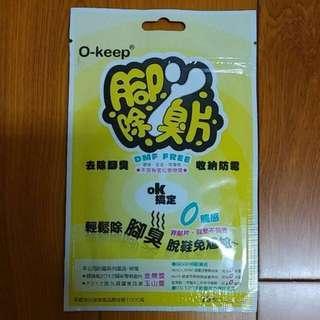 O-keep腳丫除臭片4.5×4.5cm(童鞋、女鞋皆適用)