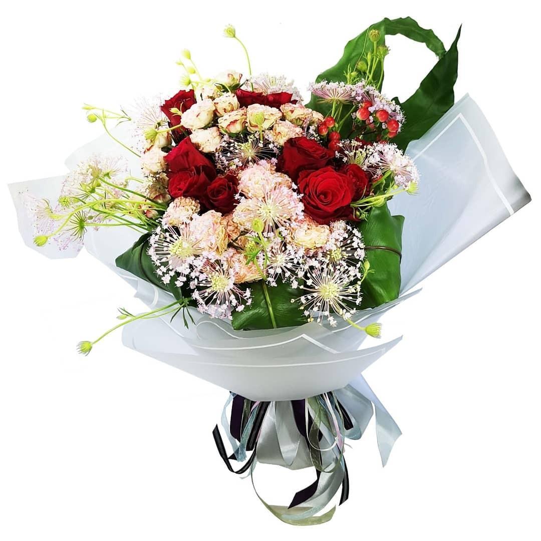 鮮花花束(美國紅玫瑰&肯亞小玫瑰)