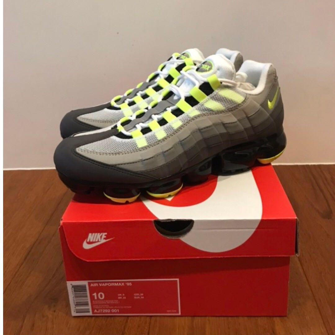 quality design 5a6a9 37931 出售 Nike Air VaporMax 95 OG Neon 經典螢光黃配色 AJ7292-001 全新台灣公司貨
